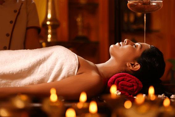 shirodhara abhyanga massage ayurvédique